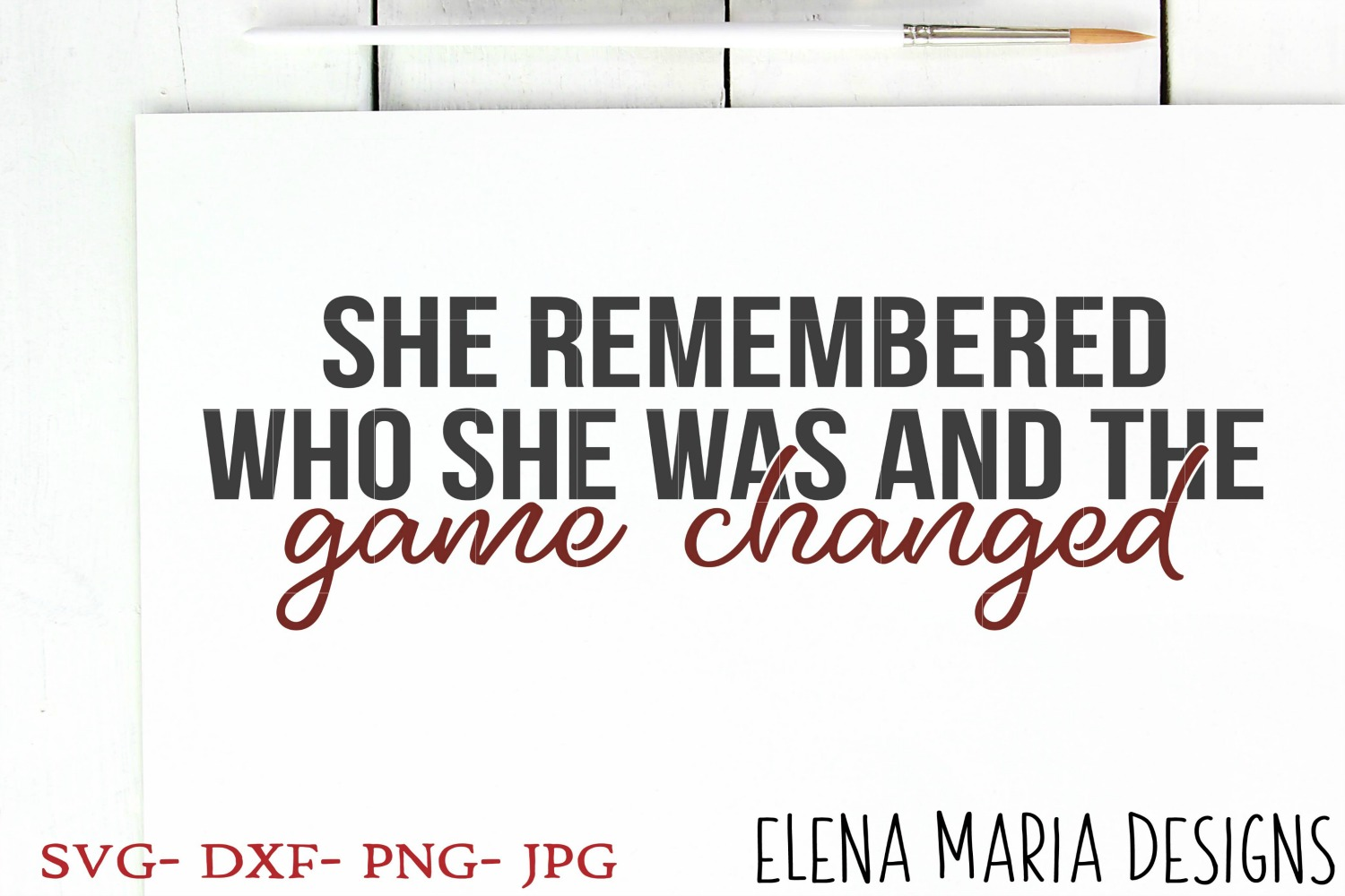 She Remembered Who She Was And The Game Changed example image 1
