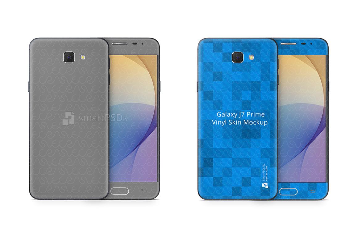Samsung Galaxy J7 Prime Vinyl Skin Design Mockup 2016 example image 2