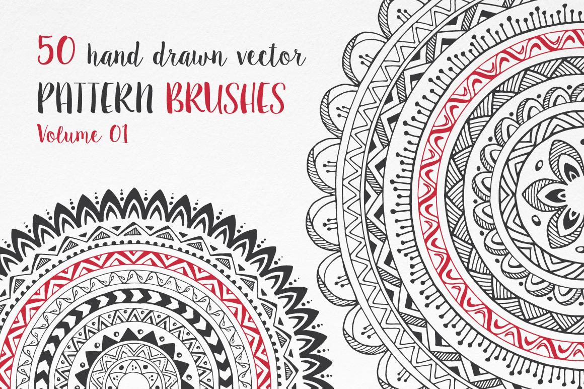 Hand Drawn Pattern Brushes Bundle - Volumes 01, 02 & 03 example image 4