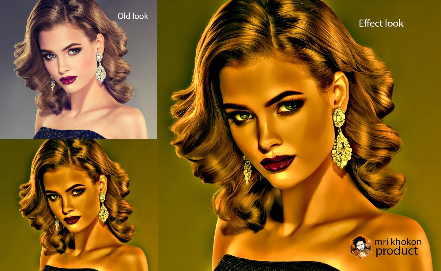 Gold Look Photoshop Effect example image 2