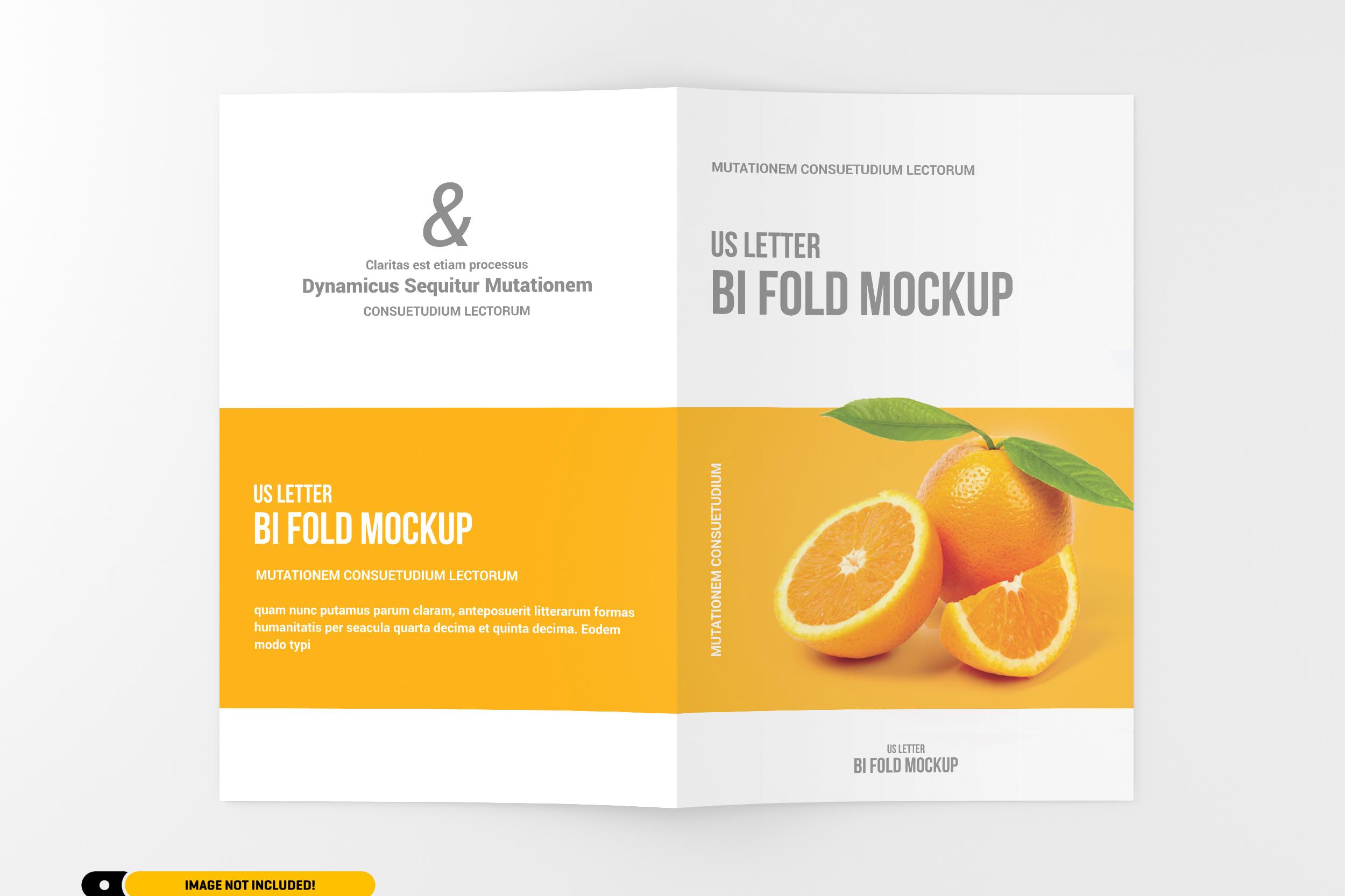 US Letter Bifold Brochure Mockup example image 6