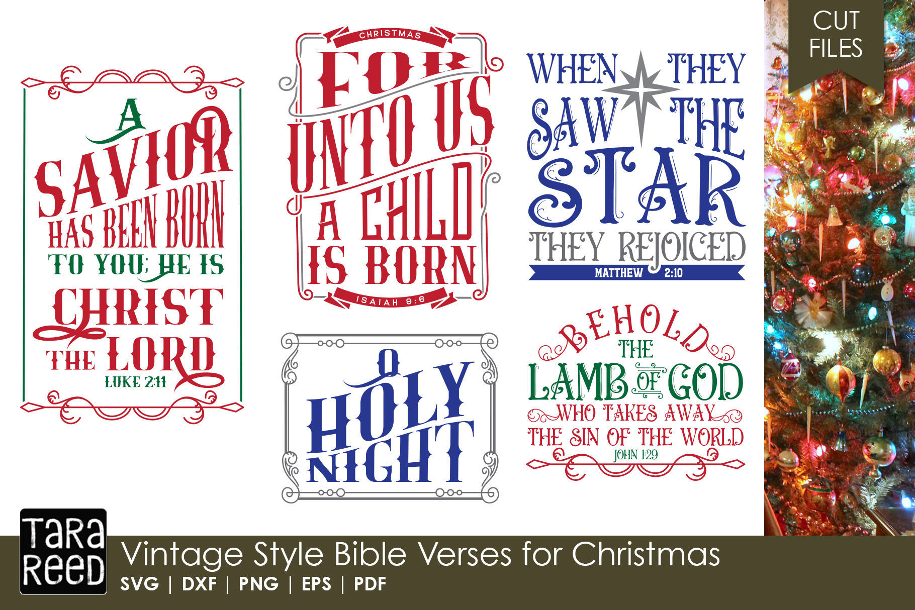 Christmas Bible Verse.Vintage Style Bible Verses For Christmas Svg Cut Files