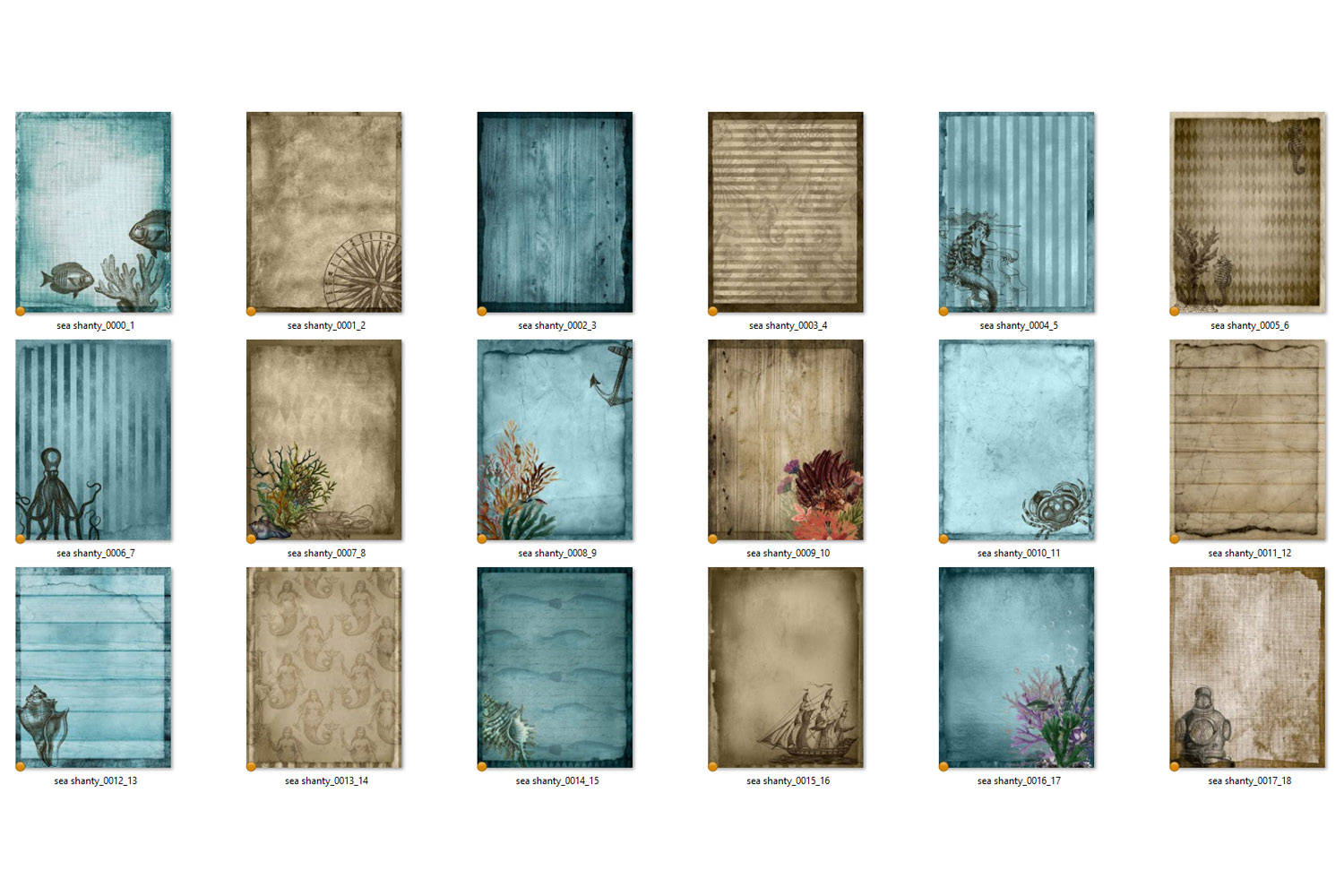 Sea Shanty Printable Journal Paper example image 5