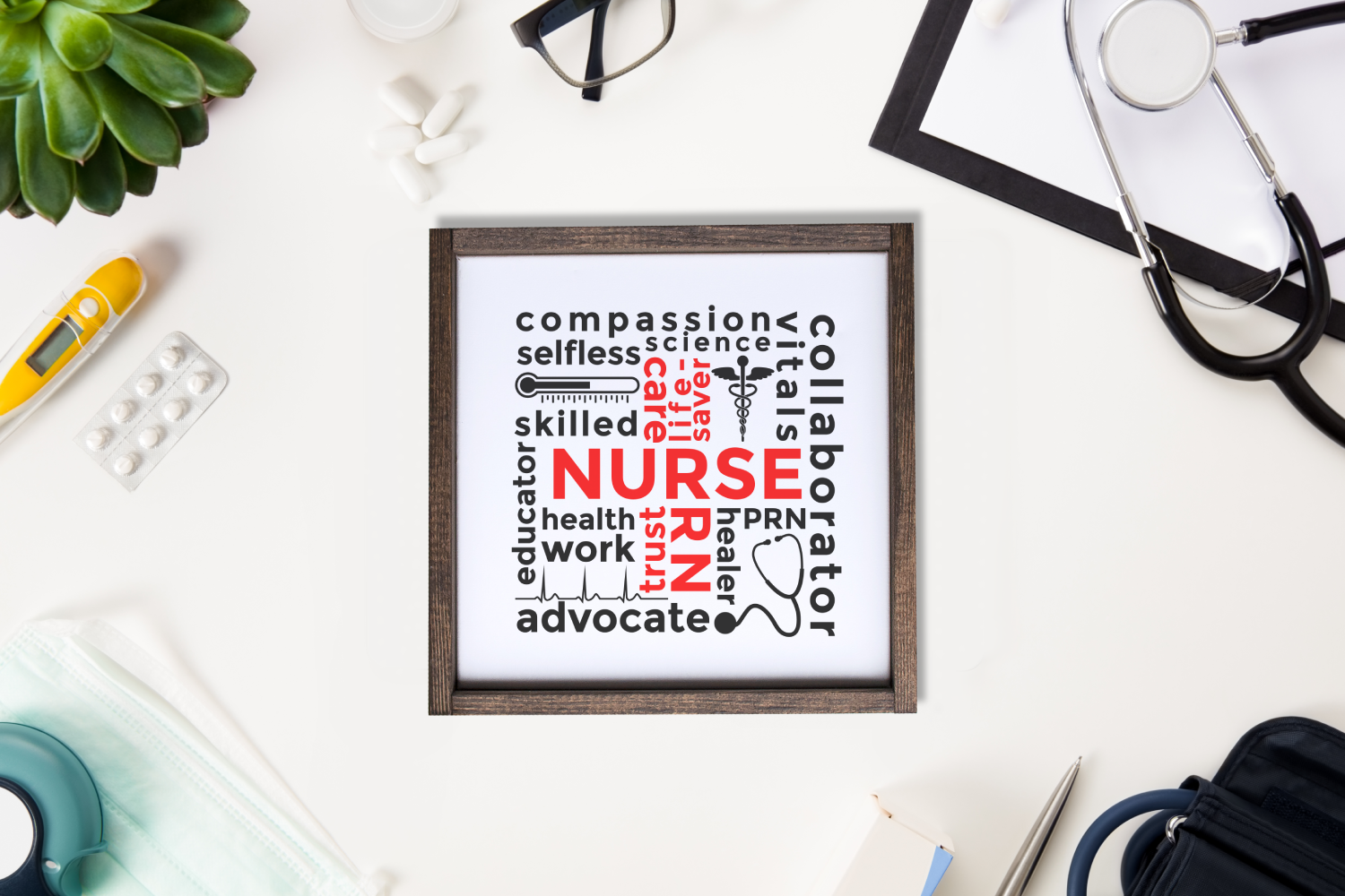 Nurse Subway Art SVG Design File example image 2