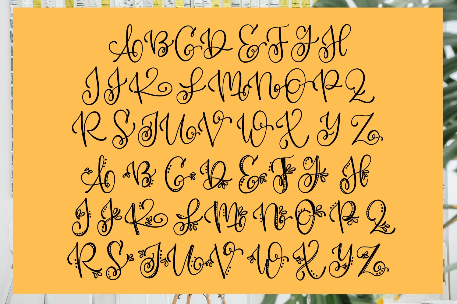 Doodlegram - Monogram Font With Doodle Alternatives example image 10