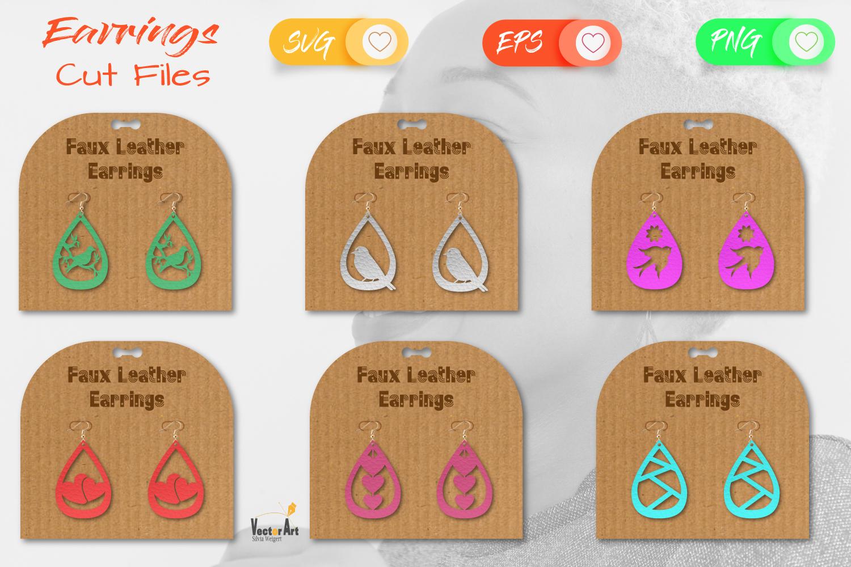 6 Earrings - Mini Bundle - Cut files example image 1