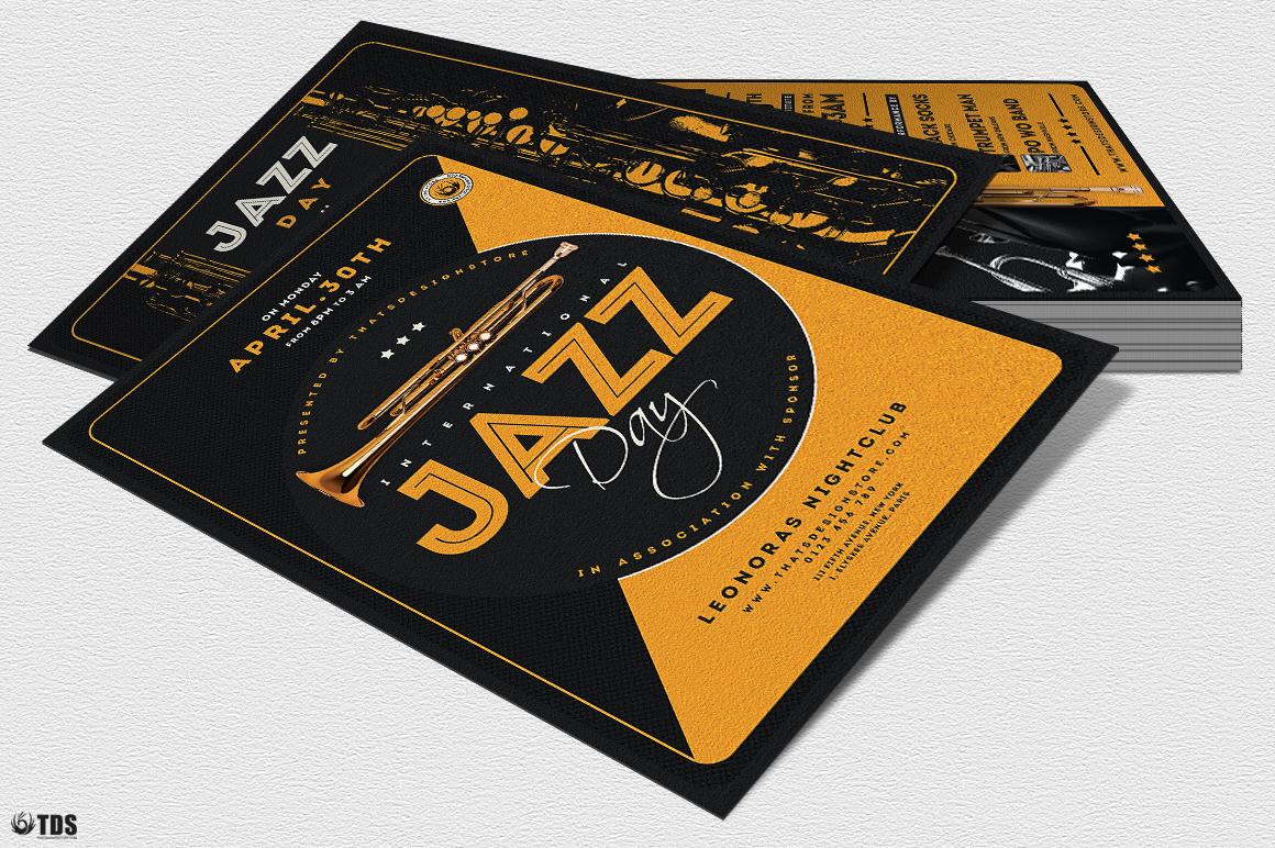 Jazz Day Flyer Bundle example image 4