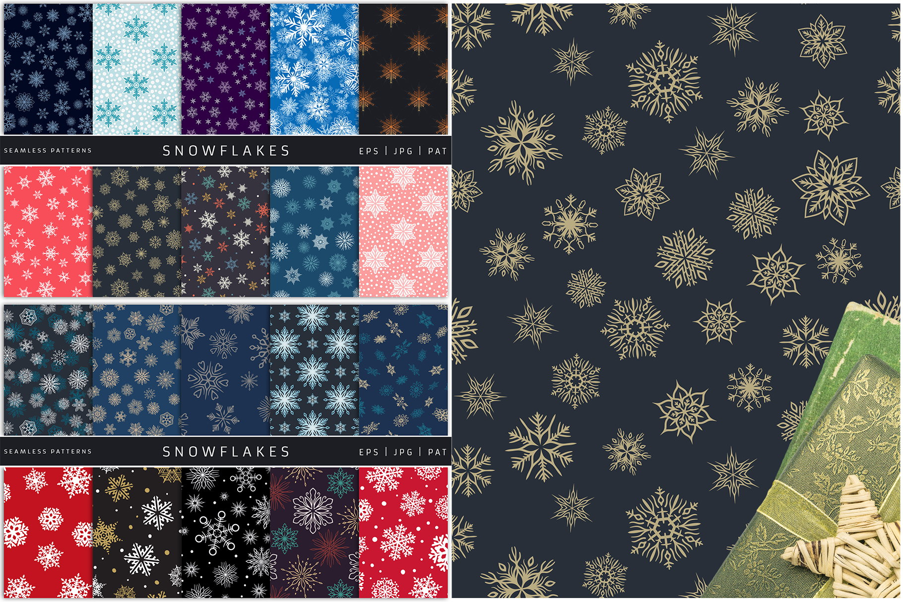 100 Seamless Patterns Vol.4 Christmas example image 8