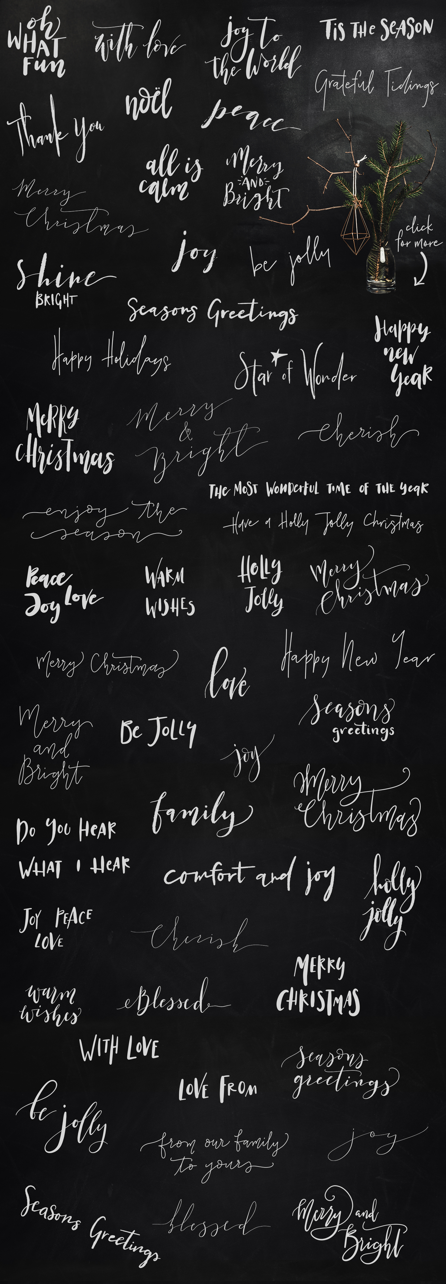 55 Hand Lettered Holiday Overlays example image 5