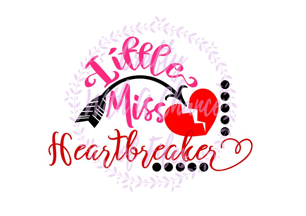 Little Miss Heartbreaker SVG - Valentine's Day Design example image 1