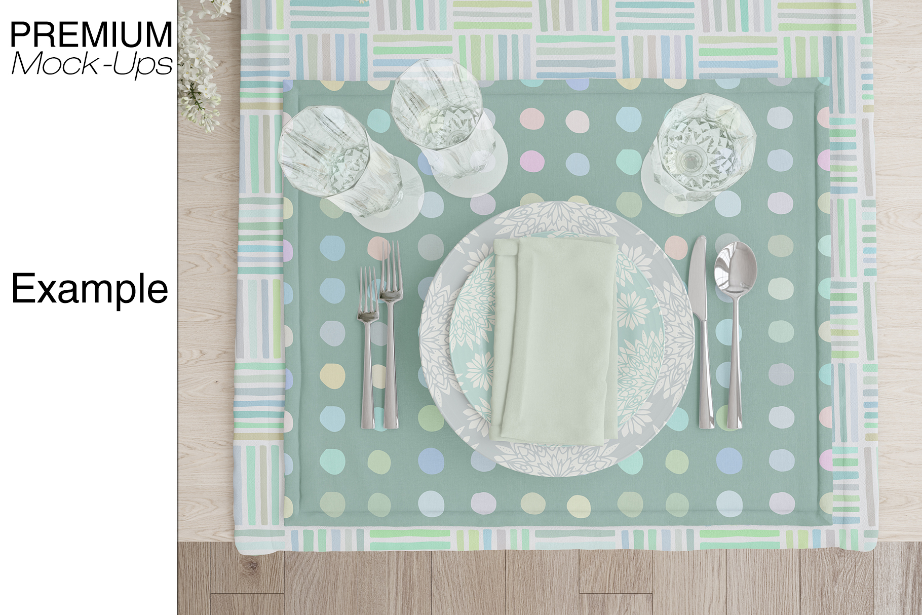 Tablecloth, Runner, Napkins & Plates example image 5