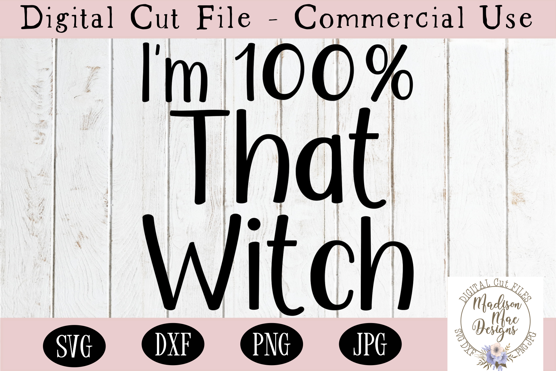 I'm 100 Percent That Witch SVG, Halloween SVG, Cut File example image 2