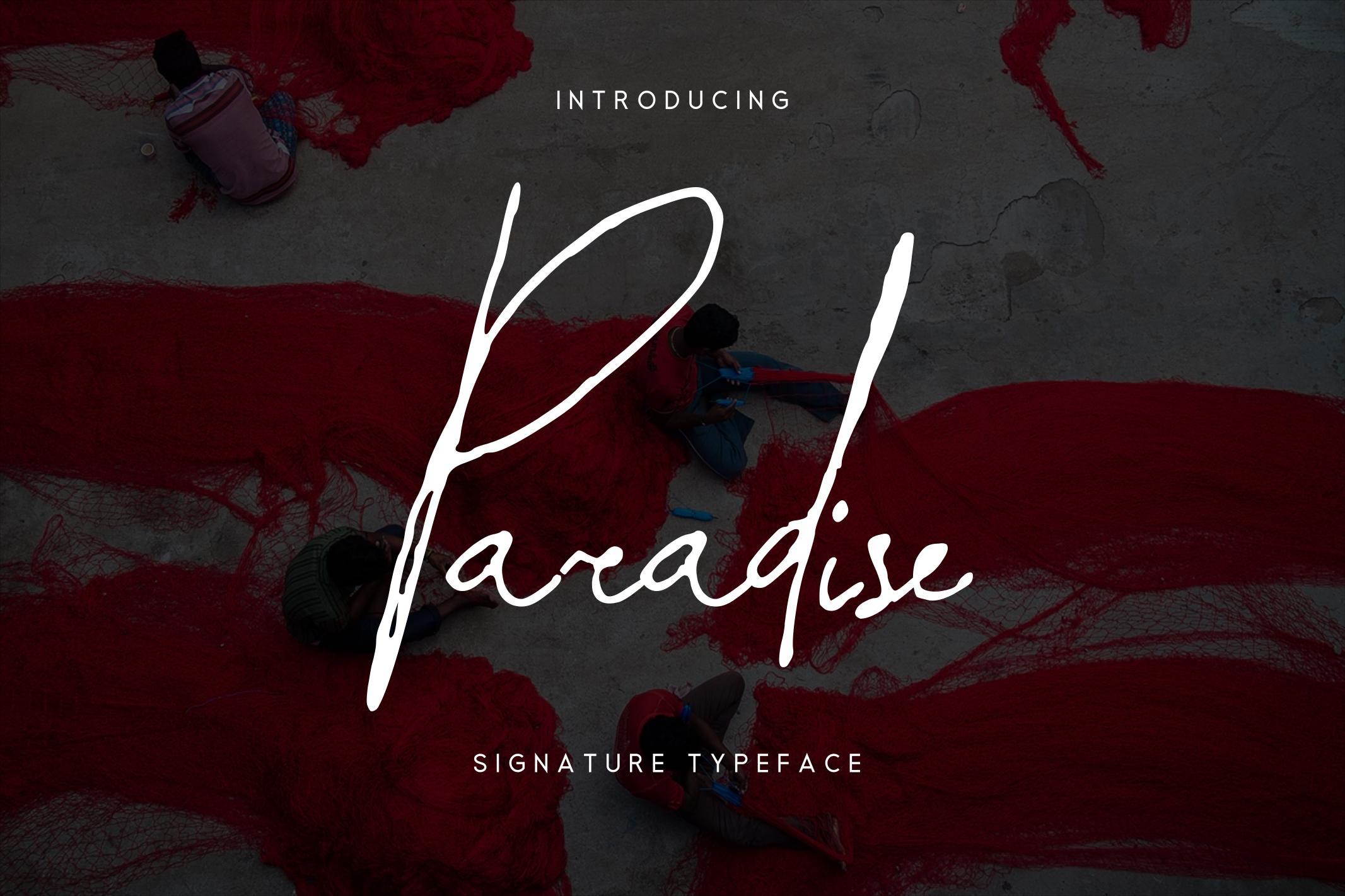 Paradise | Signature Typeface example image 1