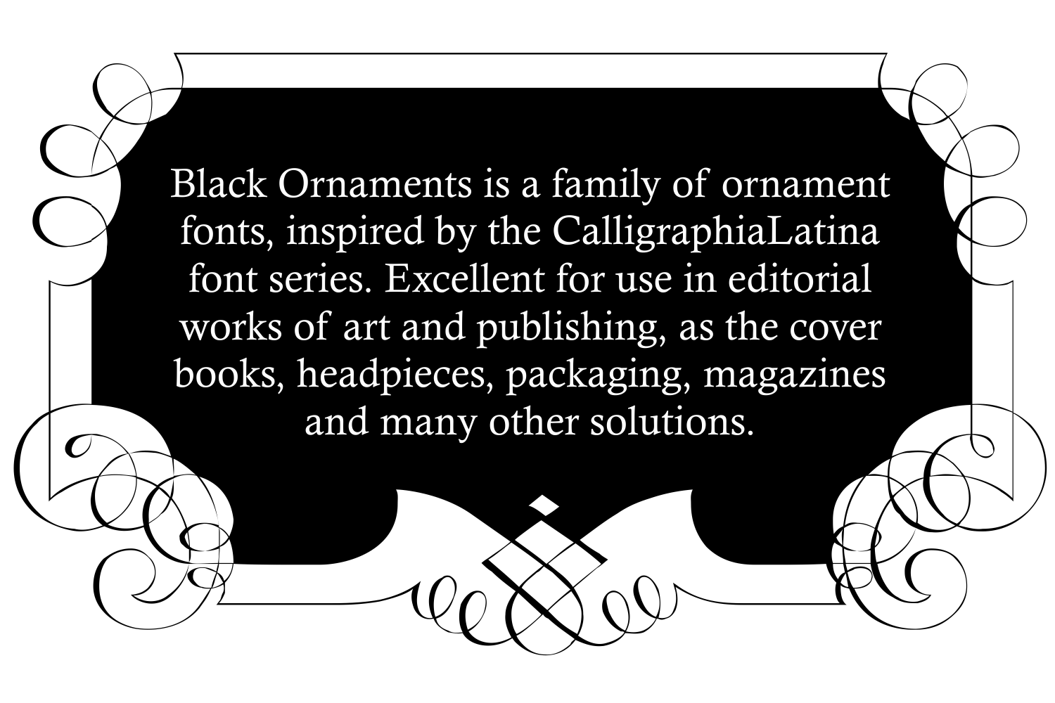 Black Ornaments (FAMILY PACK) example image 7