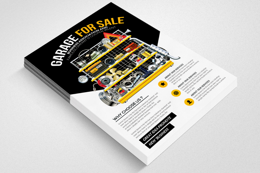 Garage Sale Psd Flyer Print Templates example image 3