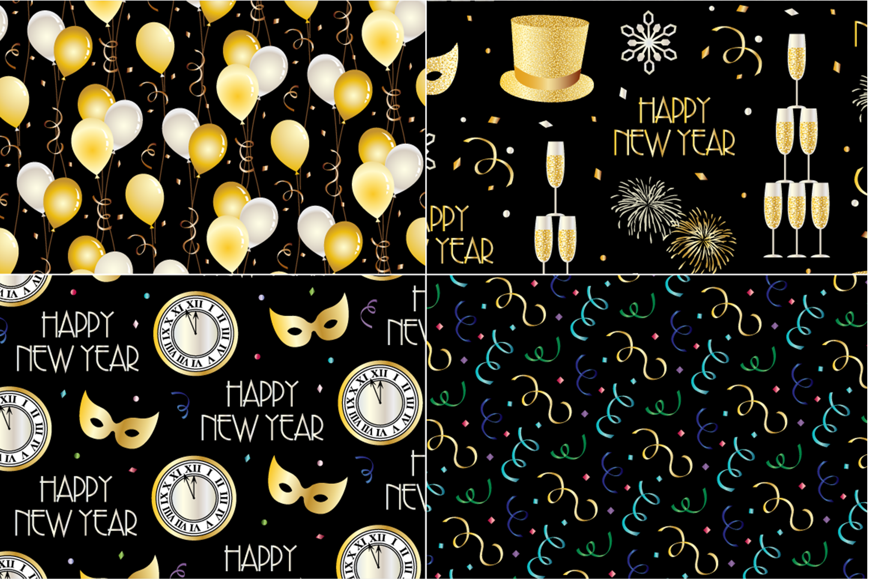 New Year's Eve Patterns example image 4