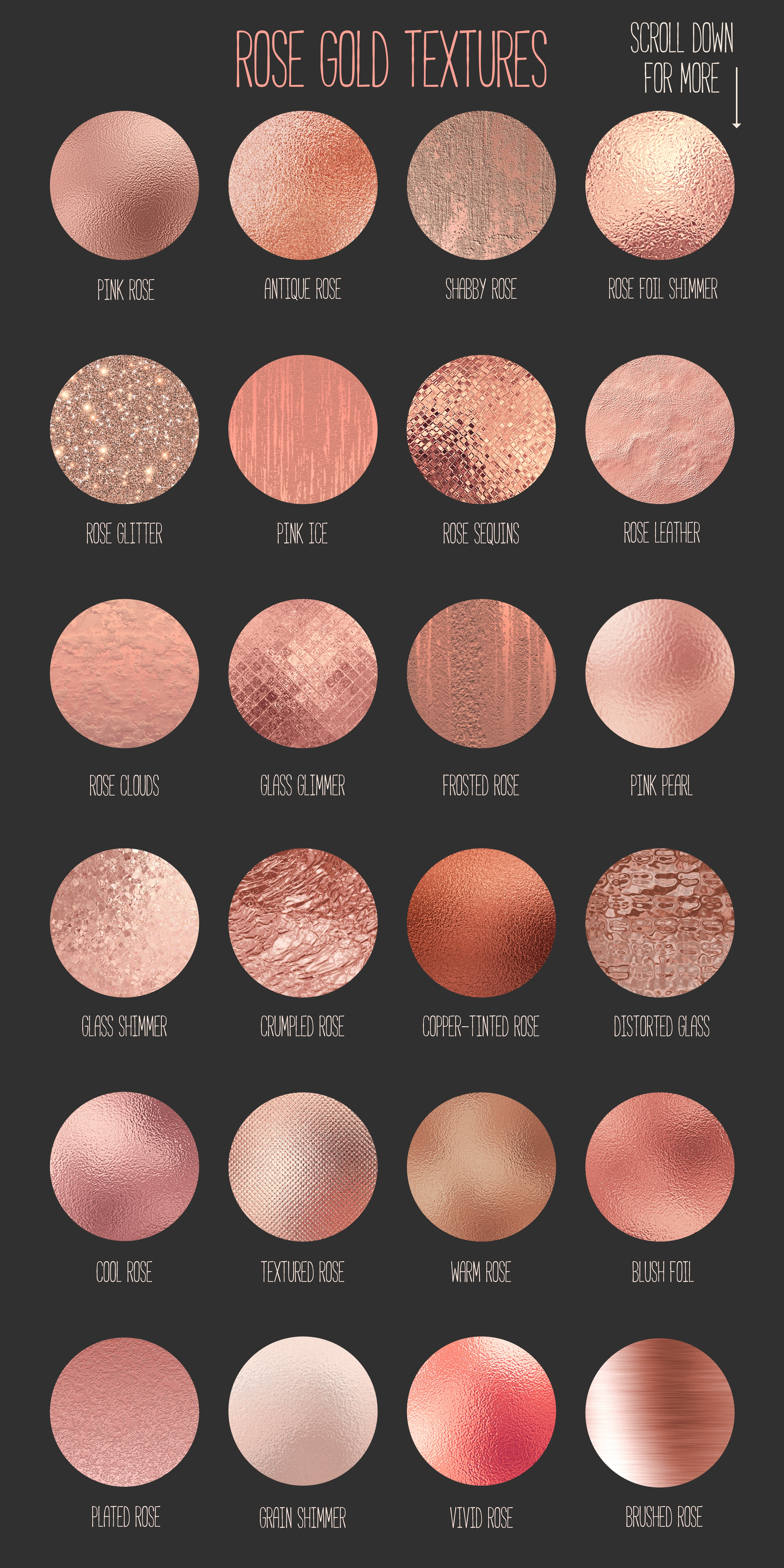 Rose gold and champagne textures example image 3