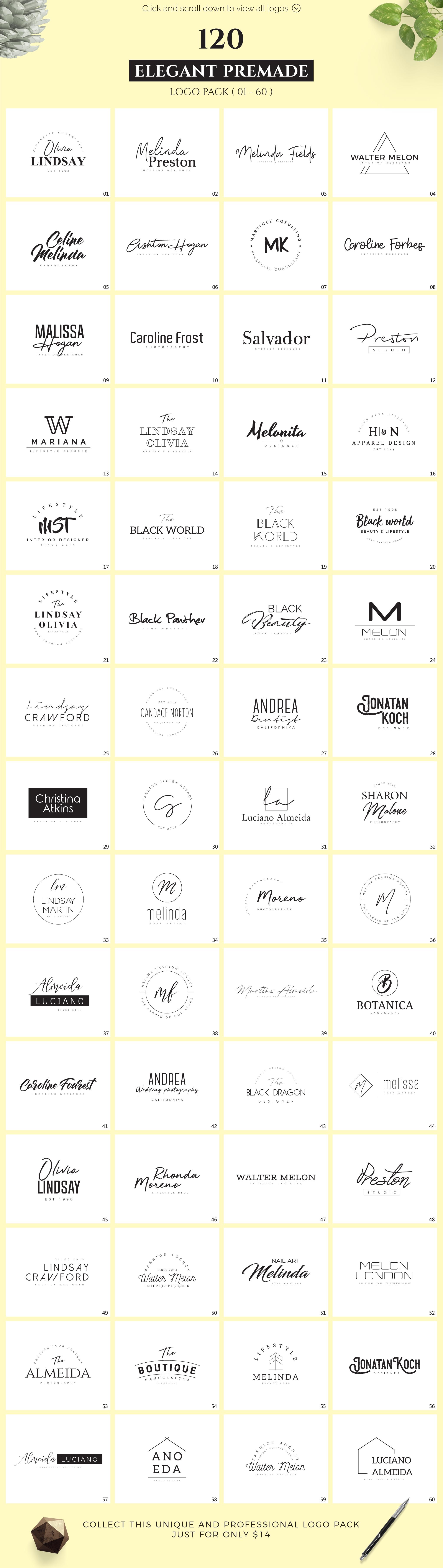 640 Premade Logos Mega Bundle example image 4