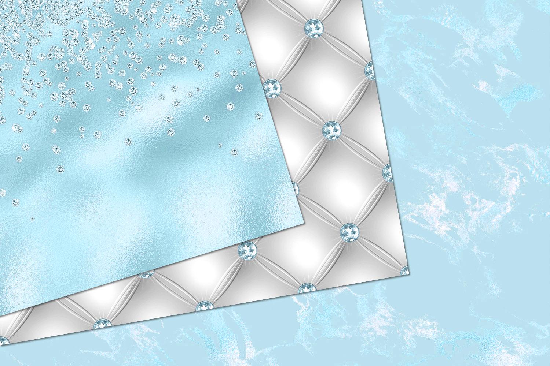 Glitzy Blue Digital Paper example image 4