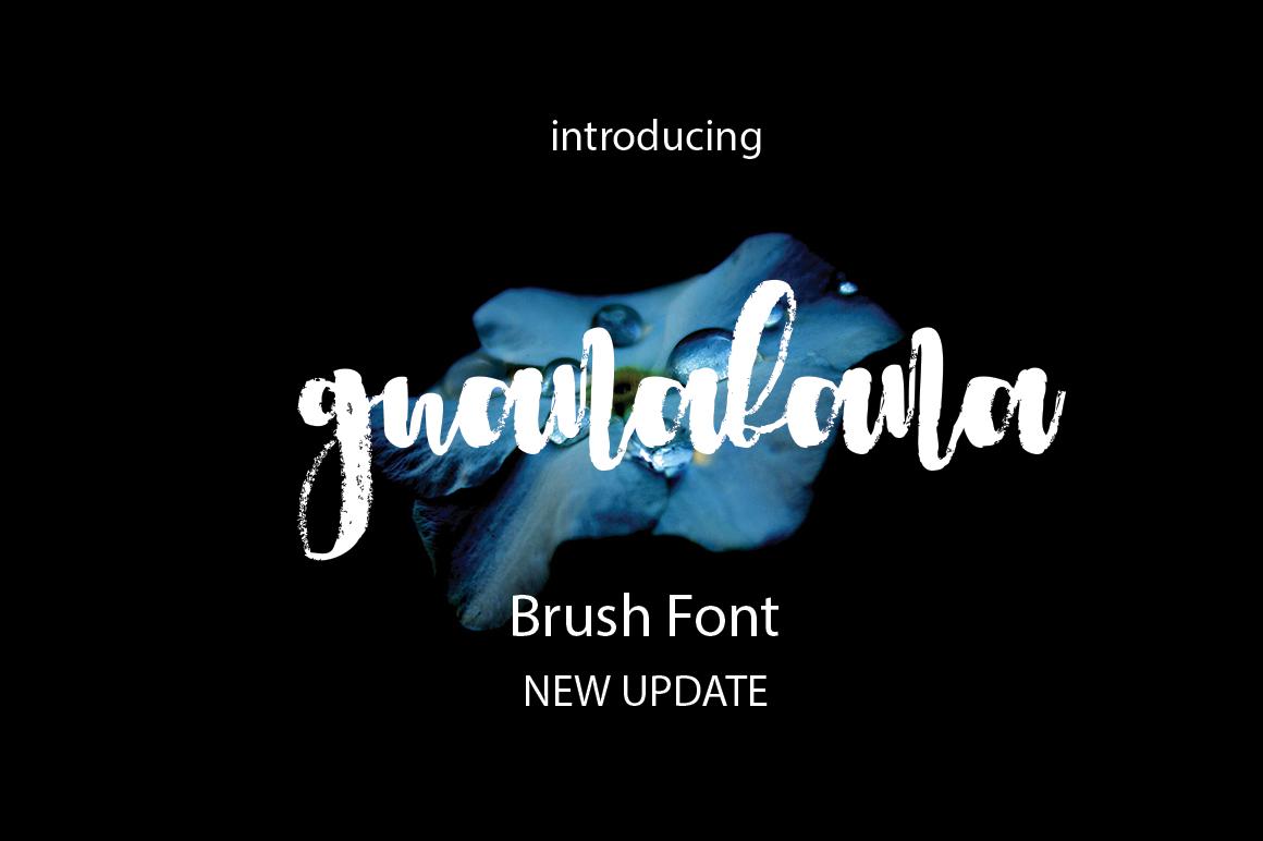 Guanabana Brush Font example image 1