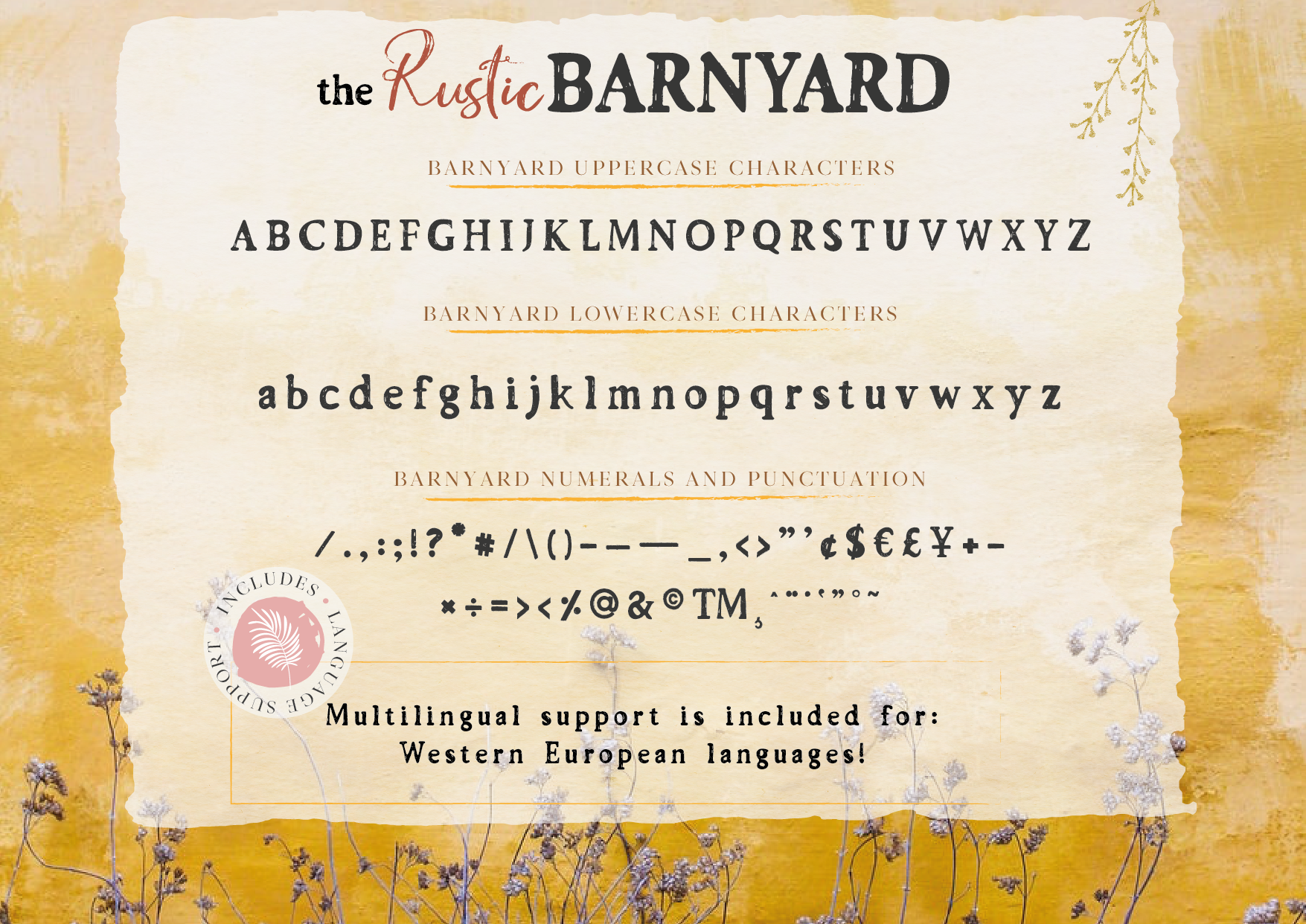 the Rustic Barnyard Font Collection example image 10