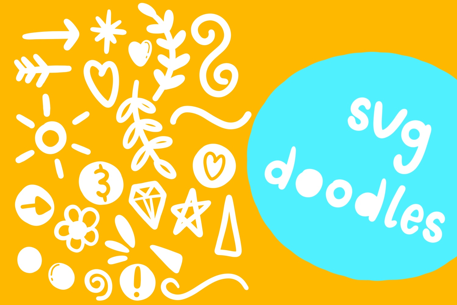 Doodle pop - a cute interchangeable lowercase font duo example image 3