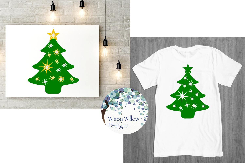 Christmas Tree Bundle, Christmas, Name, Monogram, Frame SVG example image 2