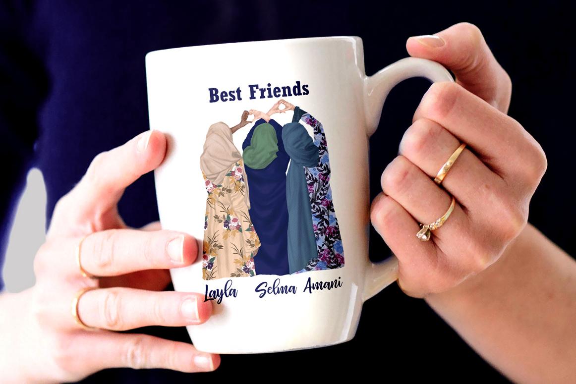 Muslim women clipart, Muslim Girls, Hijab clipart, Besties example image 3