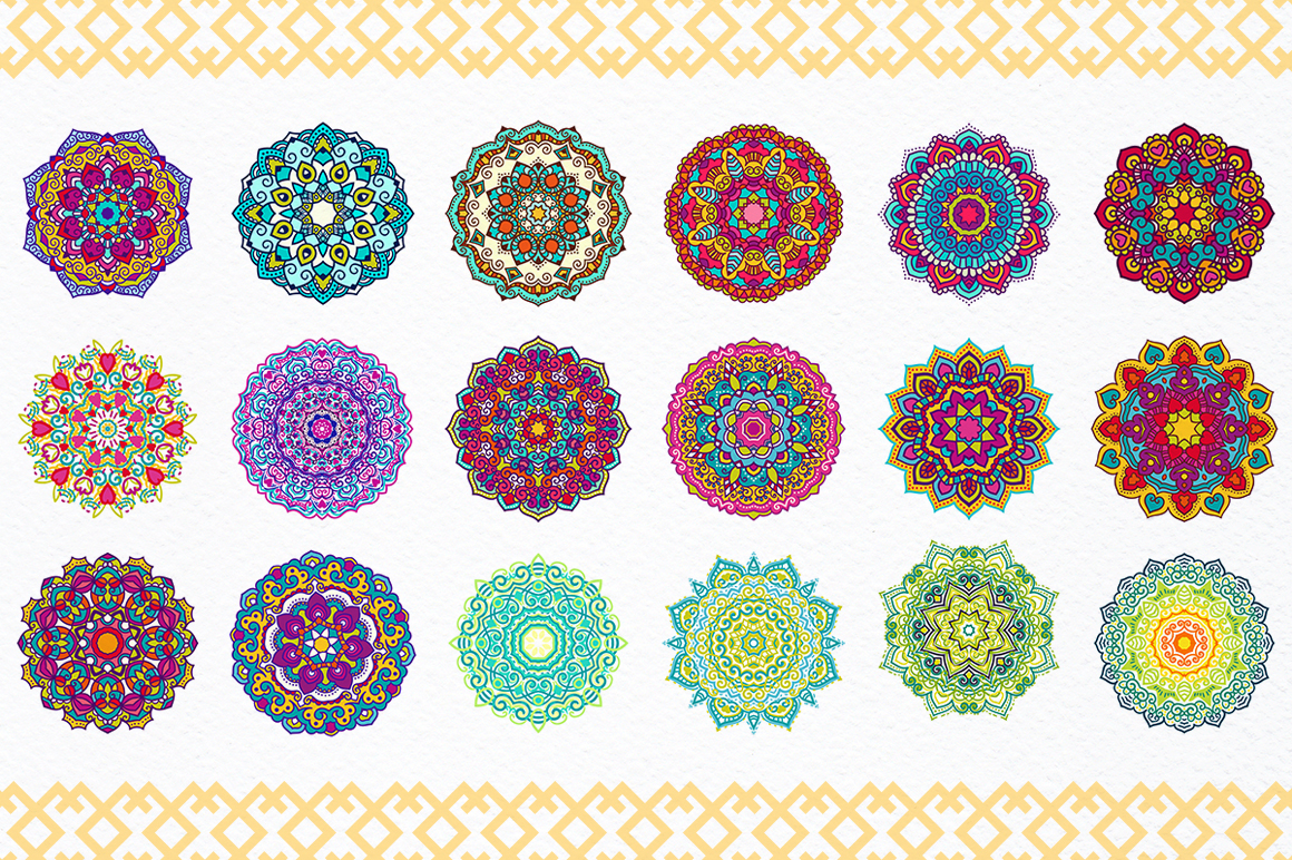 54 Vector Mandalas - Big Collection example image 3