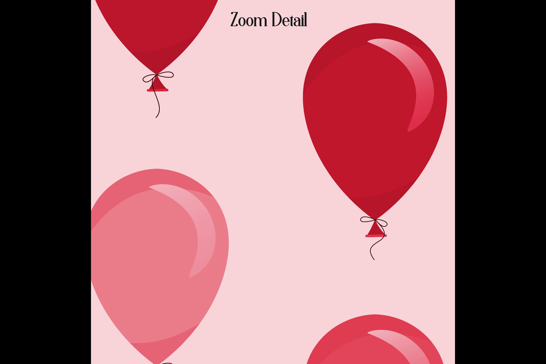 100 Seamless Balloon Pattern Kid Birthday Digital Papers example image 9
