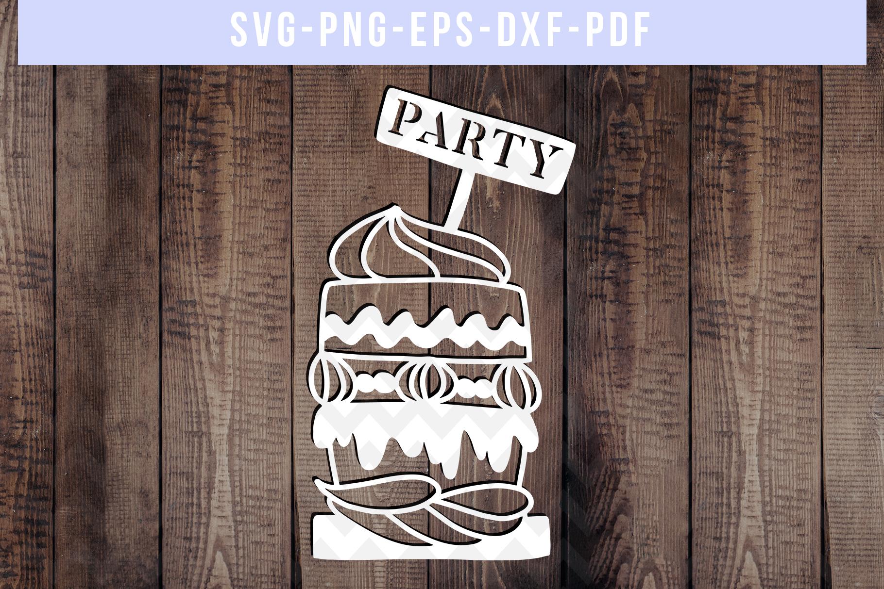 Bundle Of 9 Birthday Papercut Templates, SVG Cut Files, PDF example image 4