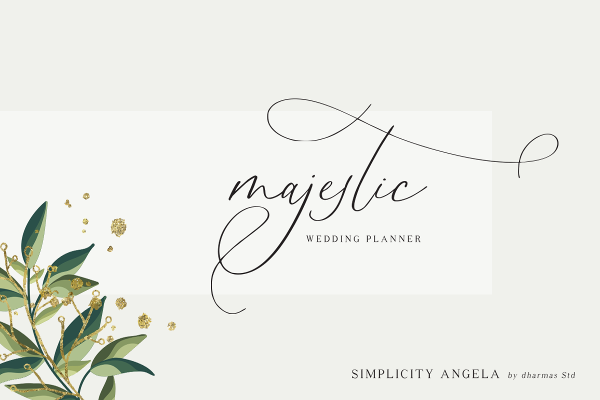 Simplicity Angela - Calligraphy Font example image 4