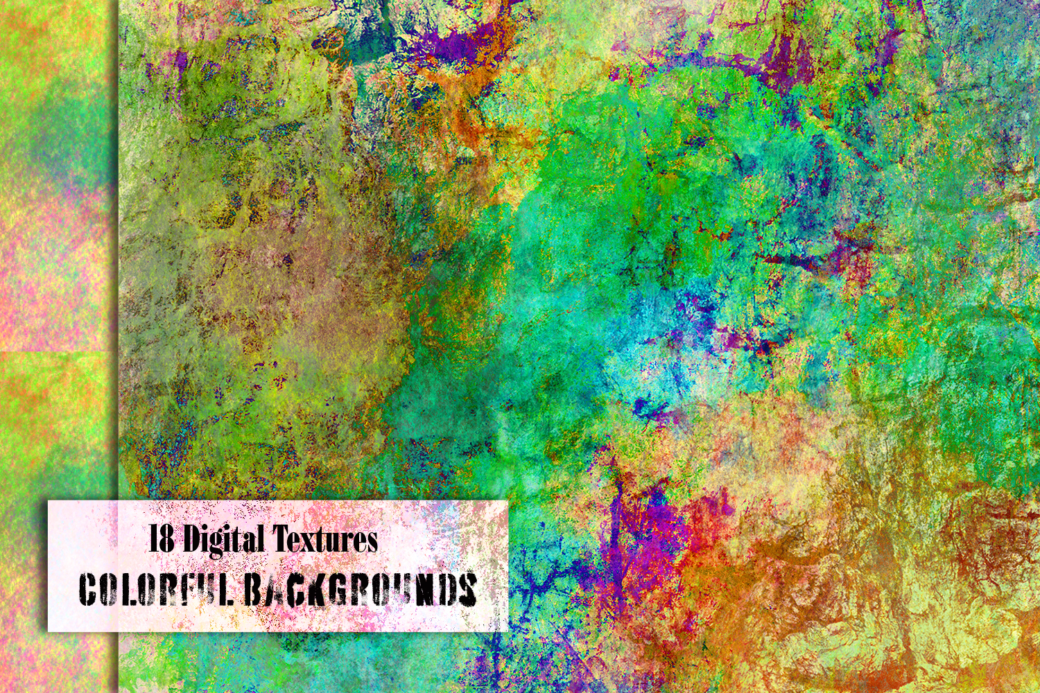 Colorful splash backgrounds. Grungy Digital textured papers example image 4