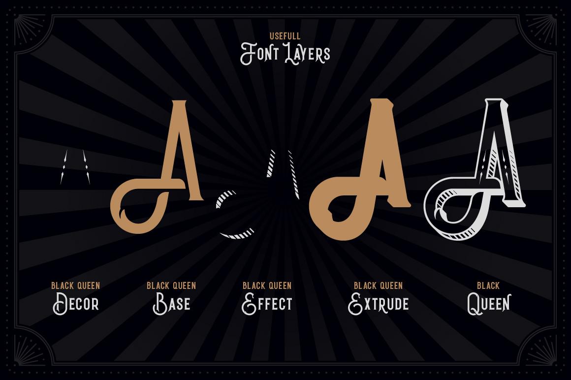 Black Queen font & bonus graphics example image 2