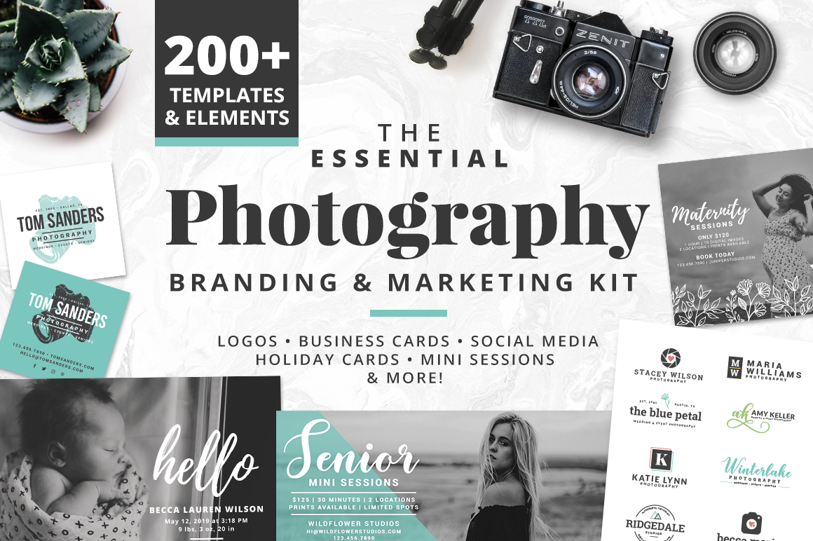 The Essential Photography Branding & Marketing Kit example image 1