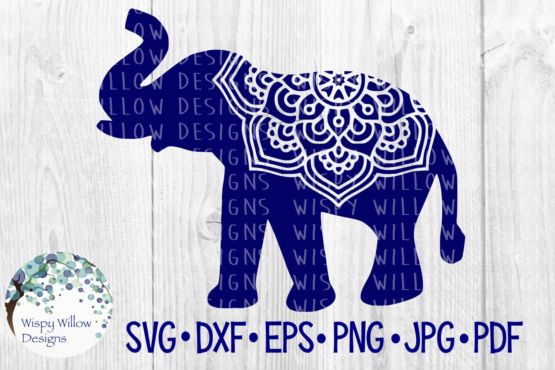Elephant Mandala, Animal Mandala SVG Cut File example image 3