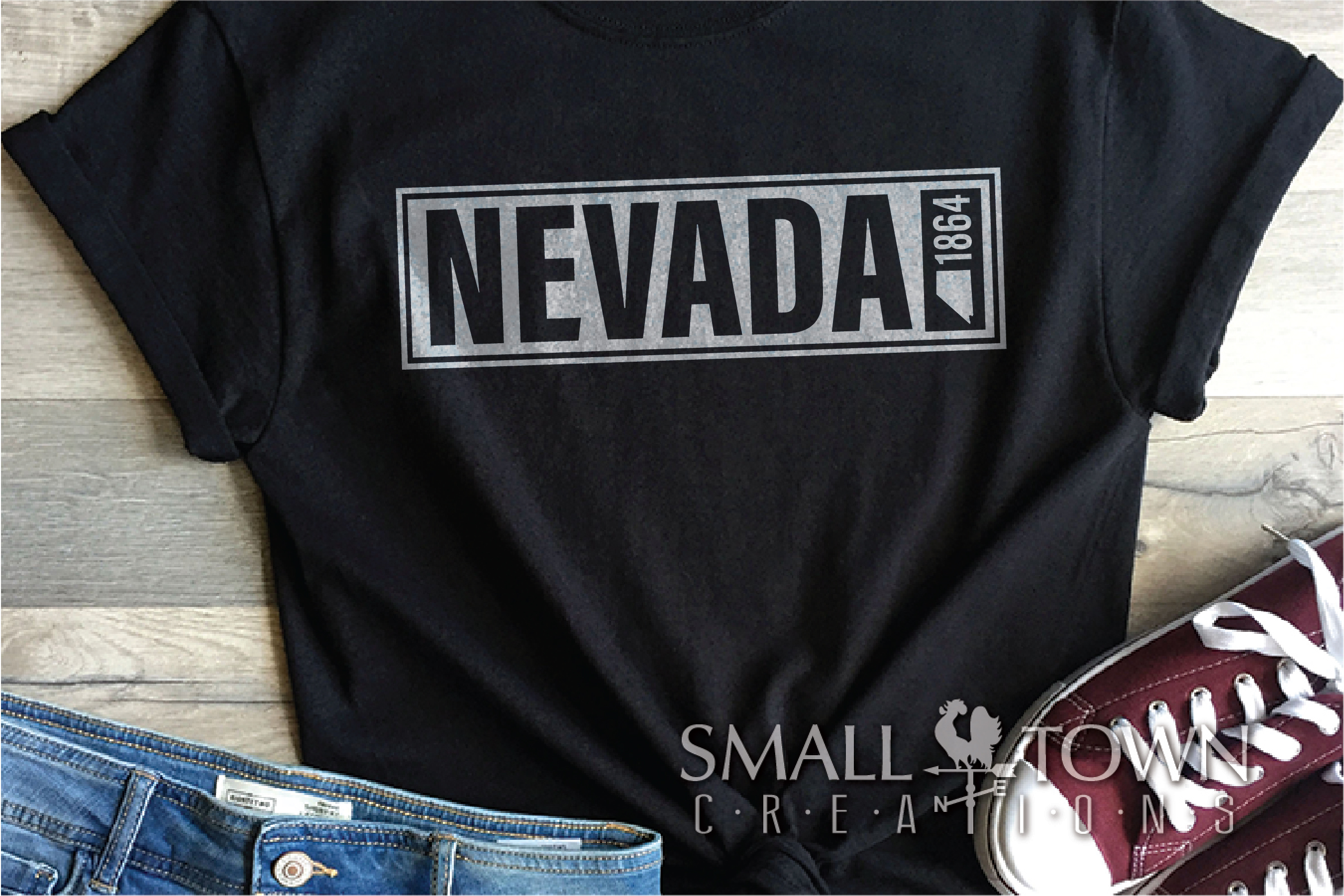 Nevada, The Silver State - slogan, Logo, PRINT, CUT & DESIGN example image 4