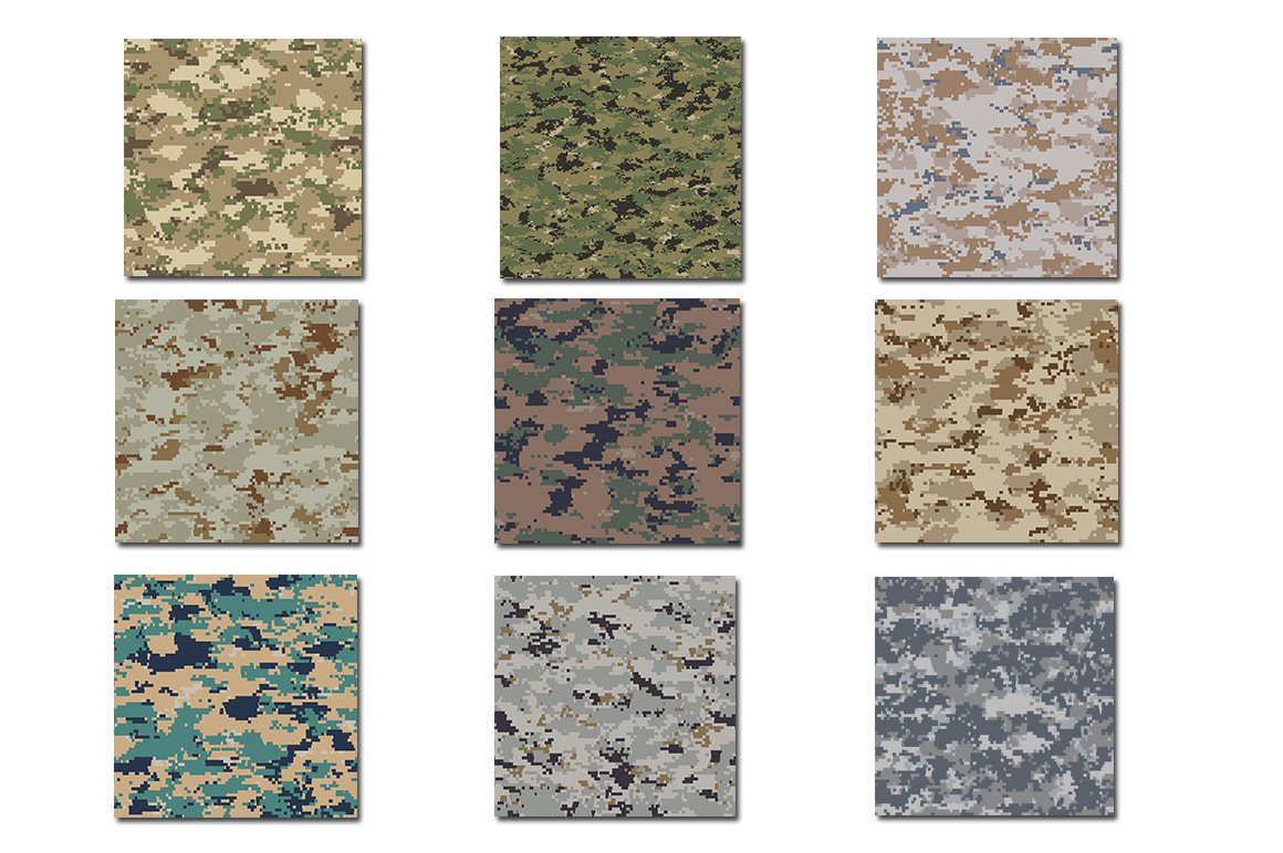 Pixel Camouflage Bundle - Backgrounds - Textures example image 2