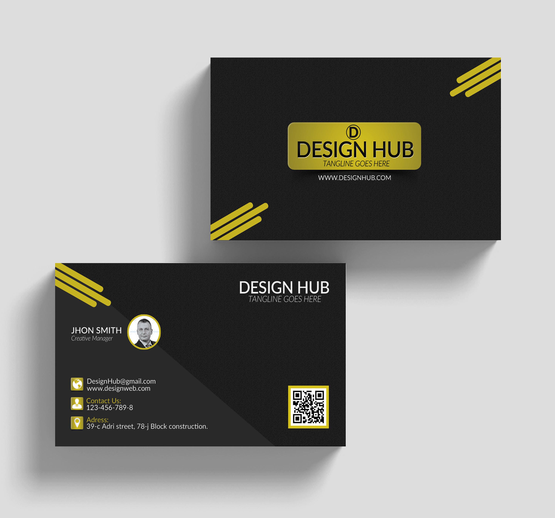 Black Stylish Business Cards example image 3