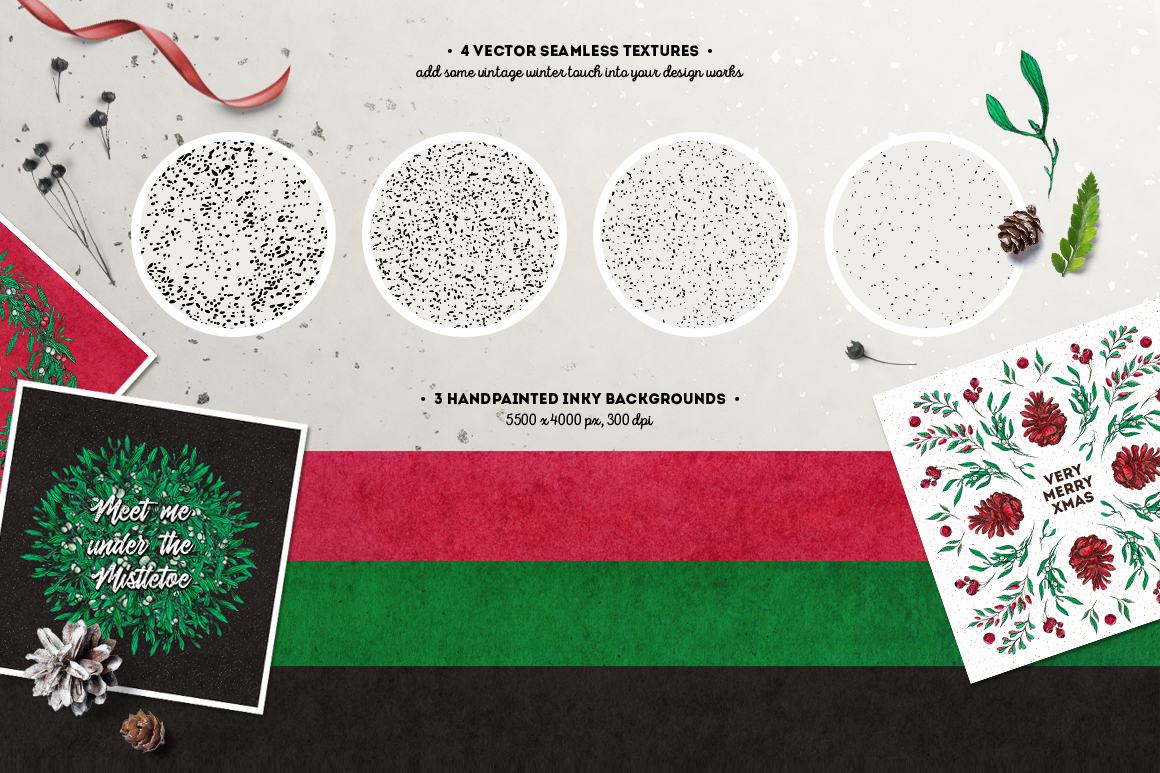 Inky Christmas Huge DIY Set example image 3