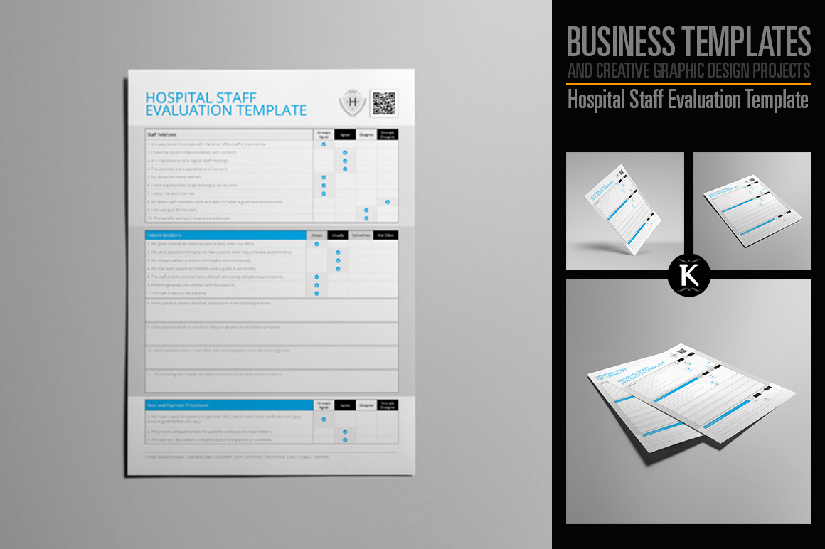 Hospital Staff Evaluation Template example image 1