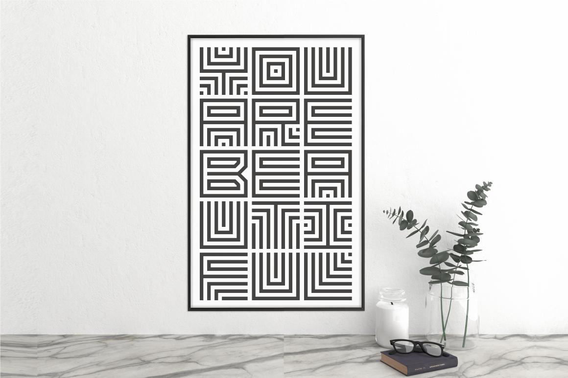Maze Line Typeface example image 3
