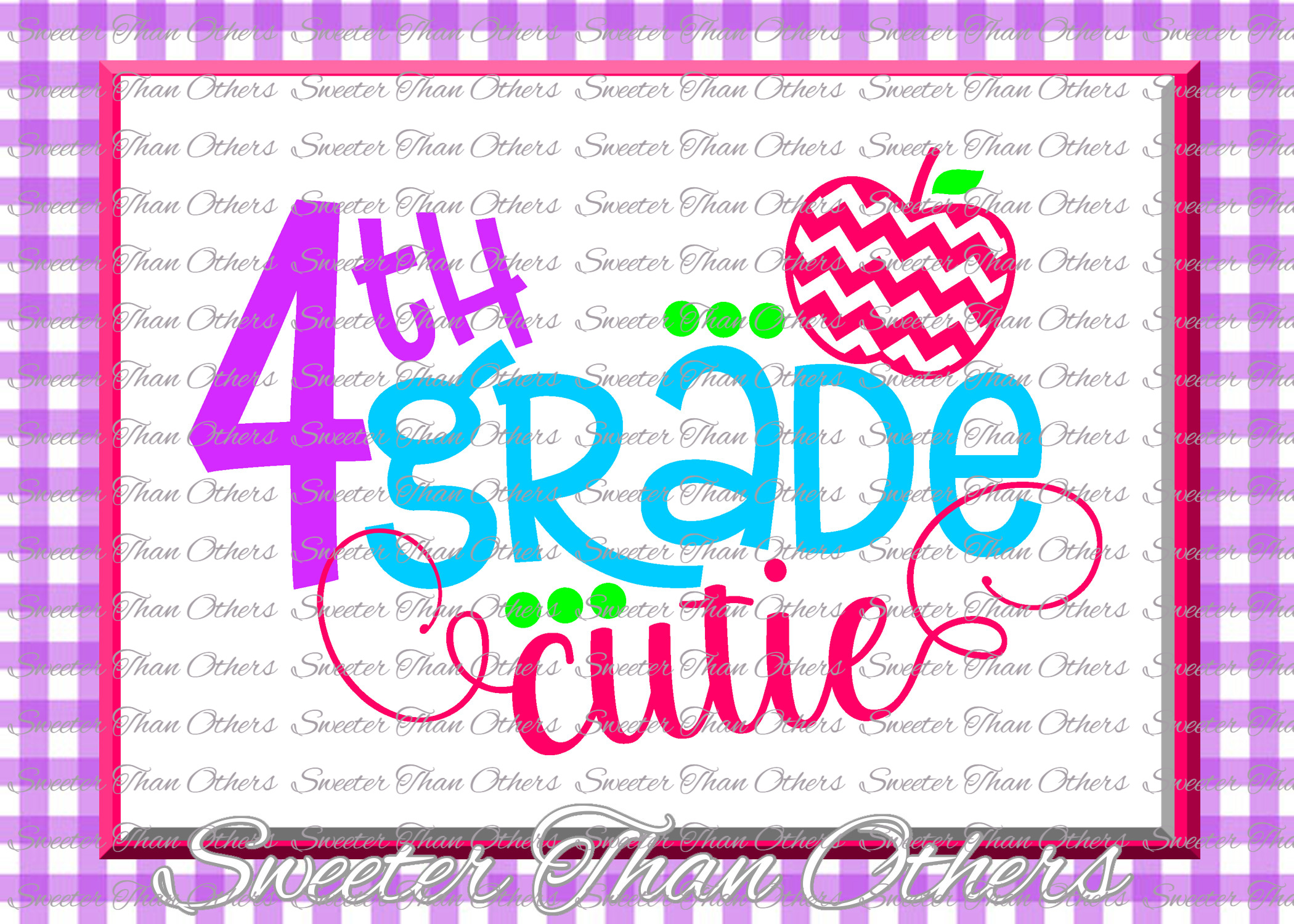 School Cutie SVG Bundle Kindergarten First Day of School example image 5