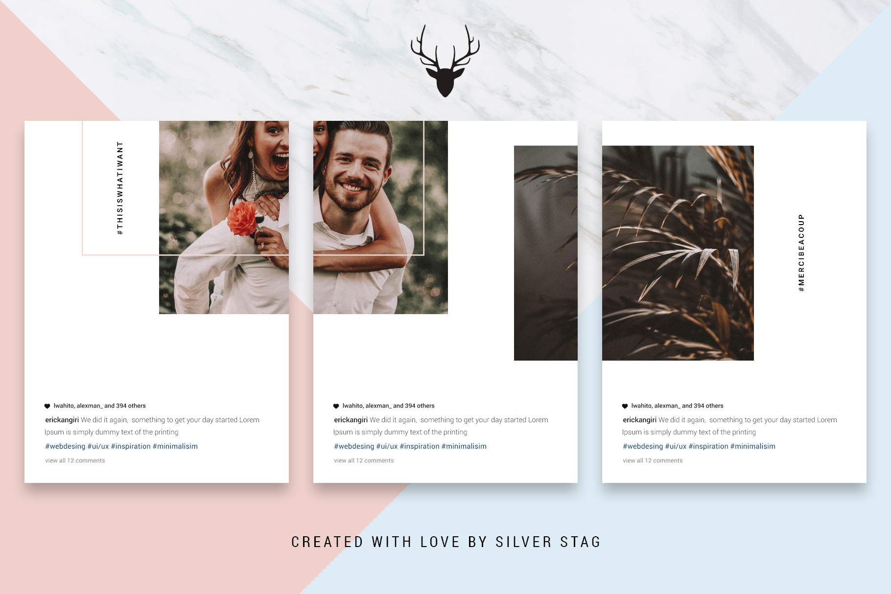 #InstaGrid 1.0 - Instagram Canva Puzzle Template example image 14