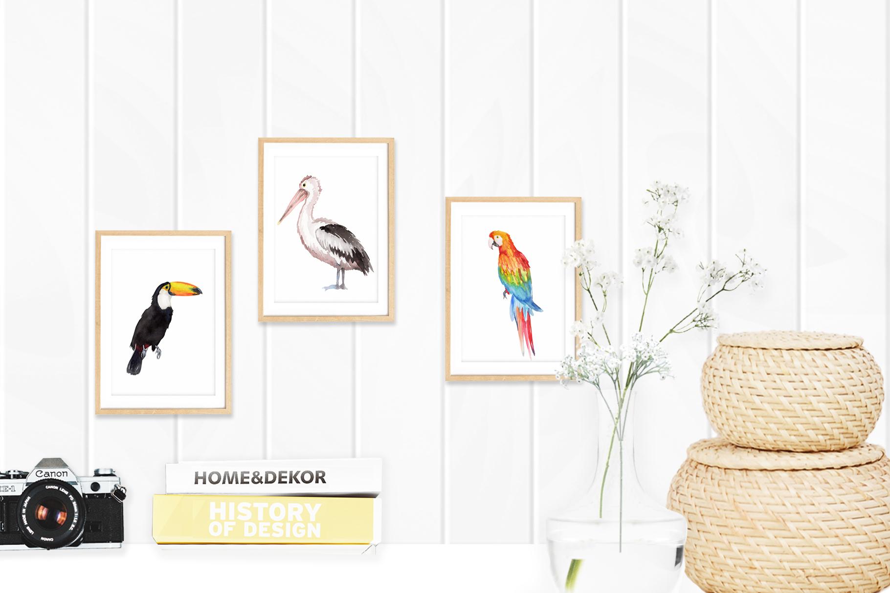 Assorted Birds Watercolor Clip Art example image 3