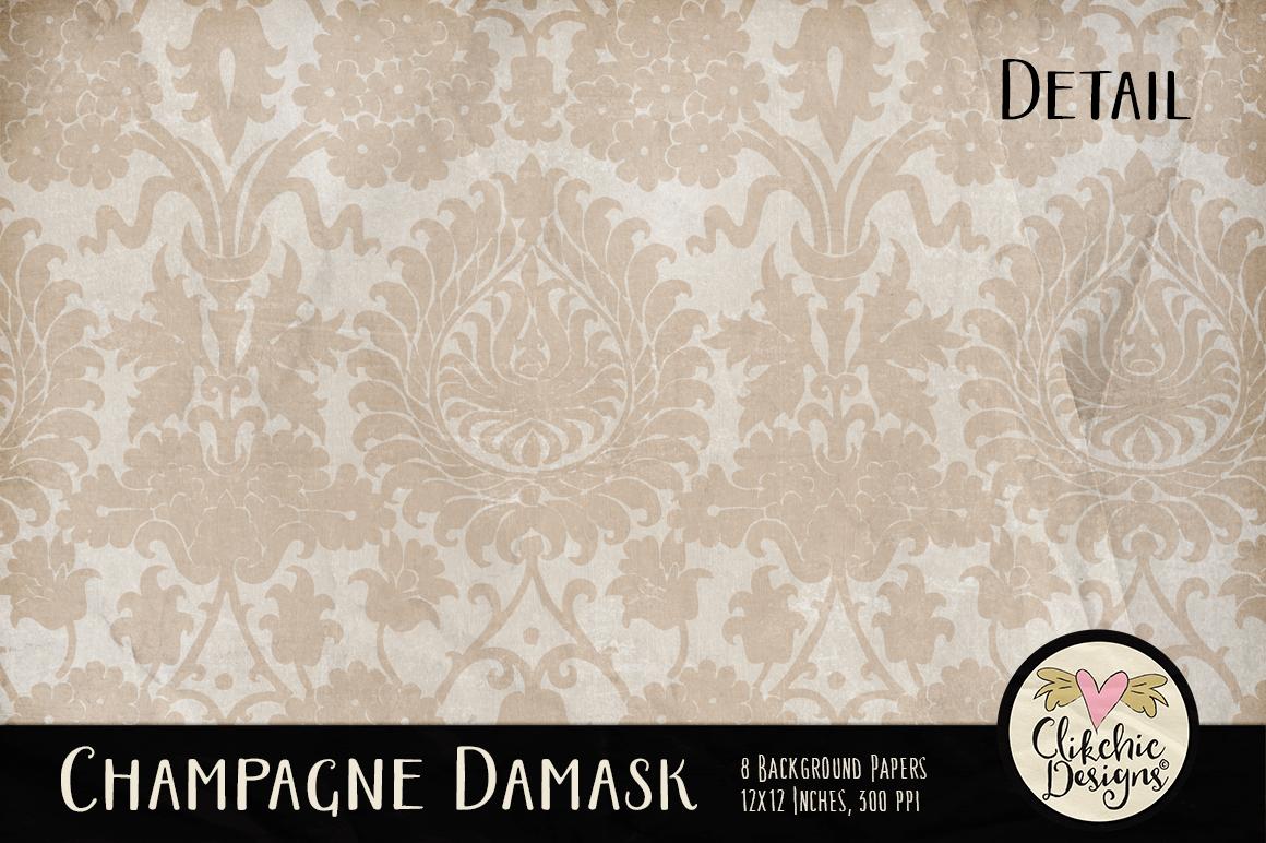 Champagne Wedding Damask Background Textures example image 5