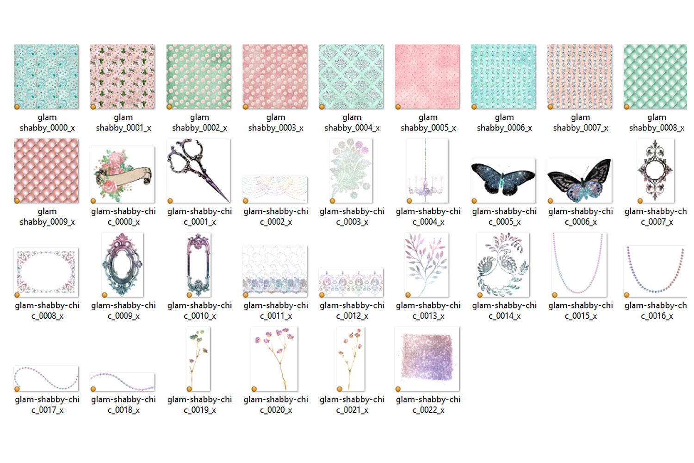 Glam Shabby Chic Digital Scrapbooking Kit example image 3