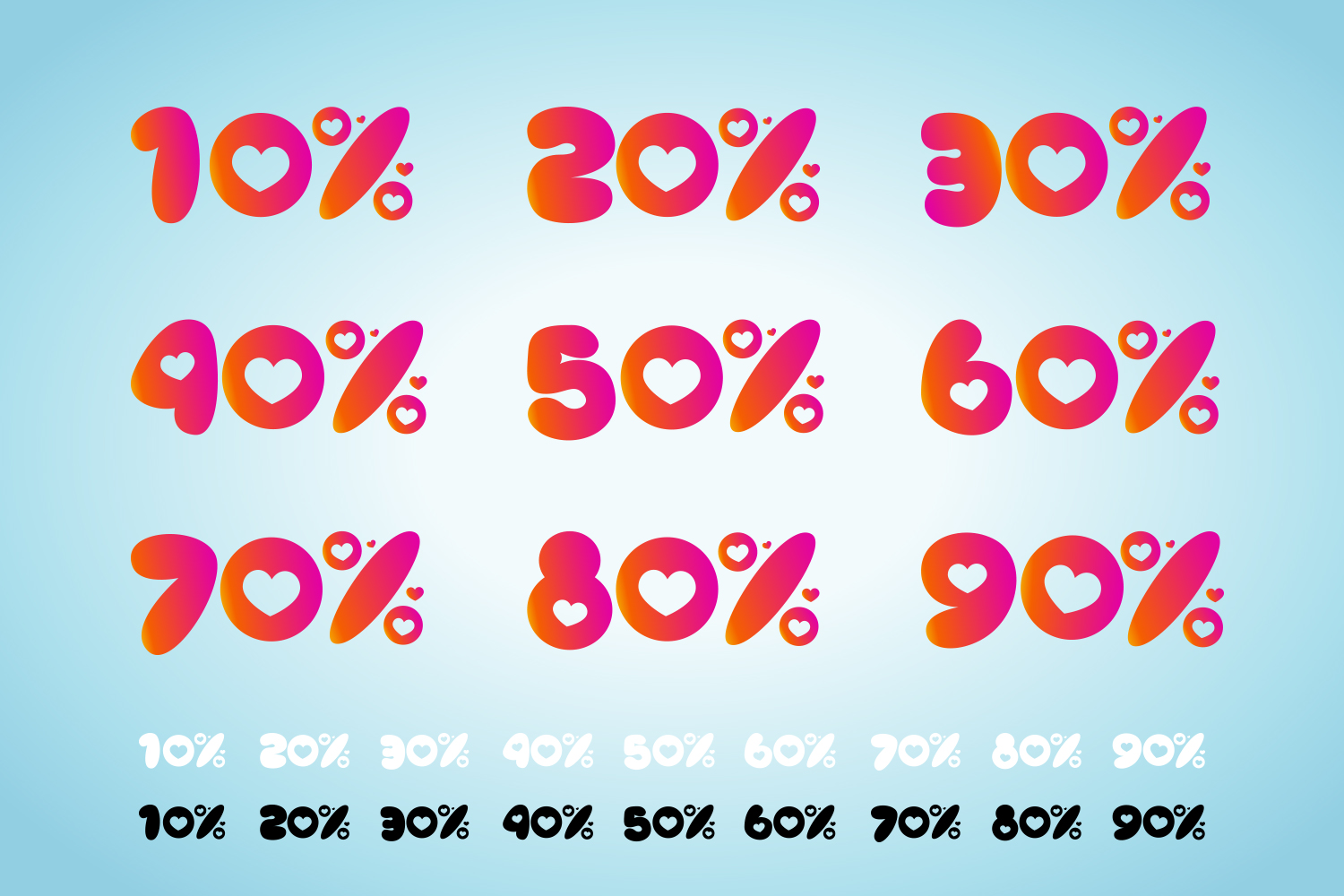 Valentine's Day Discount And Sale Number Design With Love Symbol example image 2