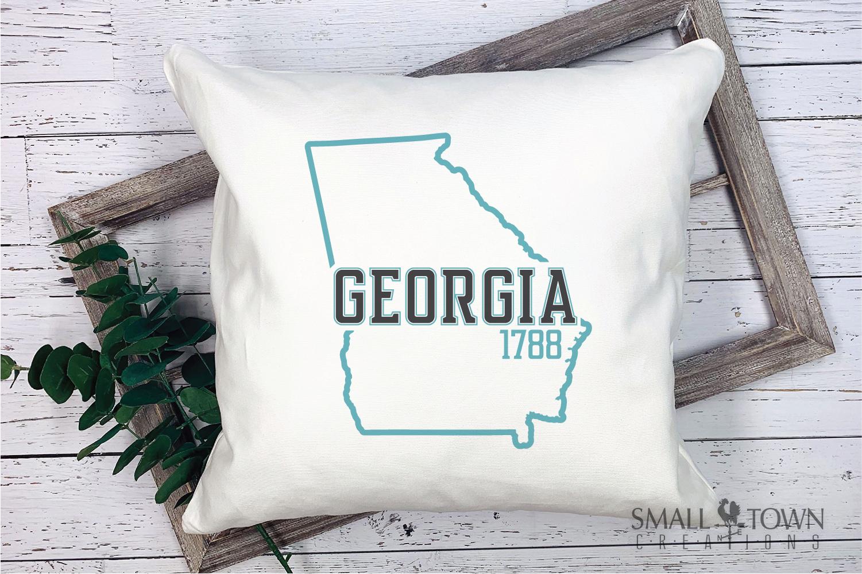 Georgia, Peach State - slogan, logo, PRINT, CUT & DESIGN example image 5
