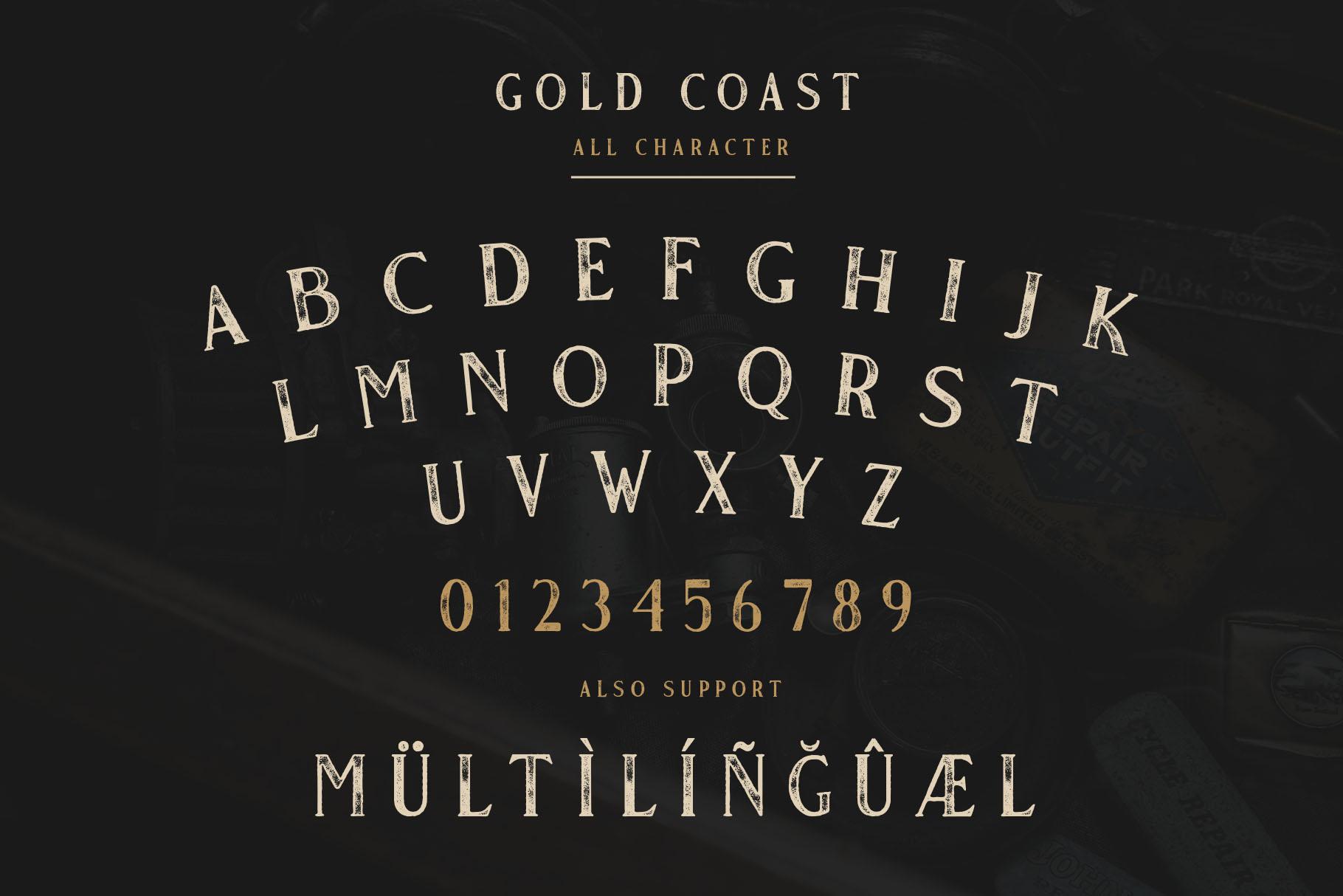 Gold Coast - Vintage Serif Bonus Logo example image 9